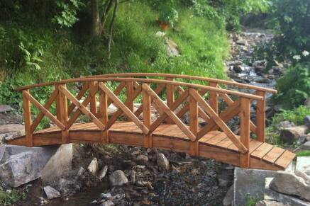 Classica Low Rail Garden Bridge Tony Ward Furniture - Garden bridges