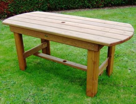 Abbey 6ft Oval Wooden Garden Table Tony Ward Furniture