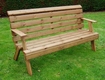 6ft Abbey Wooden Garden Bench Seat - Tony Ward Furniture
