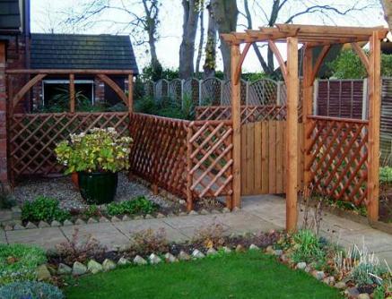 Wooden pagoda rustic fencing tony ward furniture for Garden pagodas designs