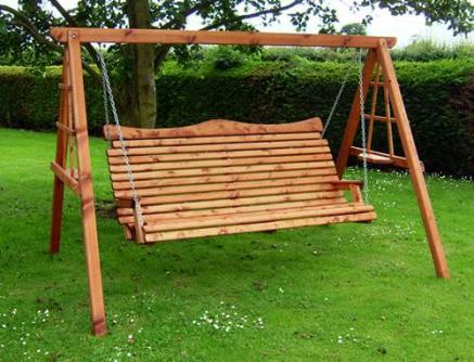Bespoke wooden garden swing tony ward furniture - Wooden garden swing seat plans perfect tranquility ...