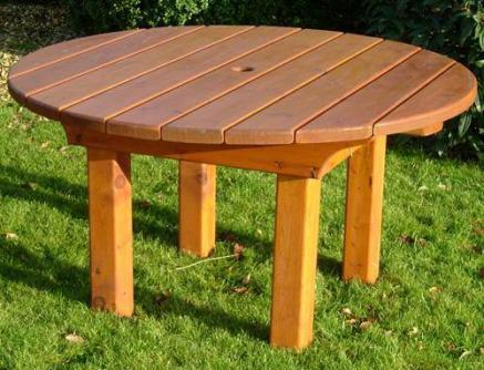 Heavy Round Wooden Garden Table Tony Ward Furniture