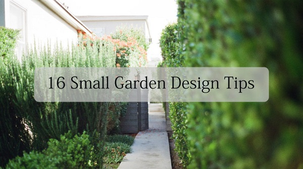16 small garden design ideas tony ward furniture for Garden design for small gardens