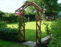 Rustic Garden Rose Arch