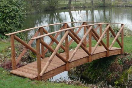 Rustic High Rail Garden Bridge
