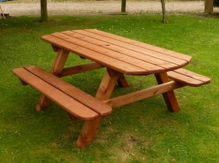 Oval Ended Garden Picnic Bench