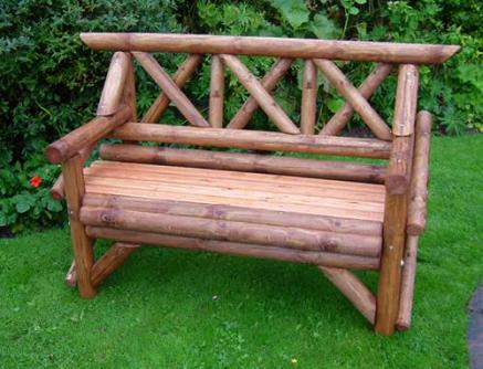 Wooden Rustic Garden Seat Tony Ward Furniture