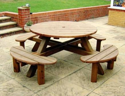 Round 8 Seater Picnic Table Tony Ward Furniture