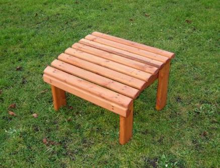 Wooden Garden Foot Stool Tony Ward Furniture