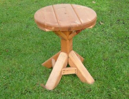 Small Round Wooden Garden Table Tony, Small Wooden Table For Garden