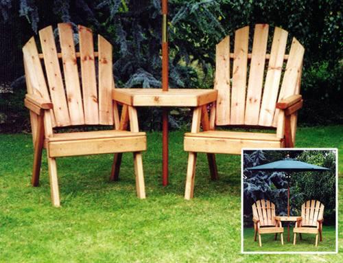 Fanback Garden Conversation Seat